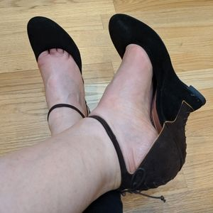 Vintage suede Alaia heels/shoes! Size 8 so pretty